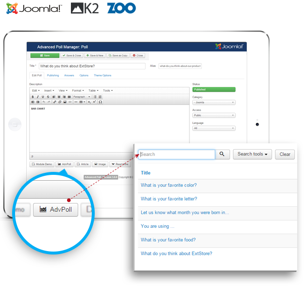 Joomla K2 Zoo Content Support