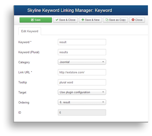 Keywords Management