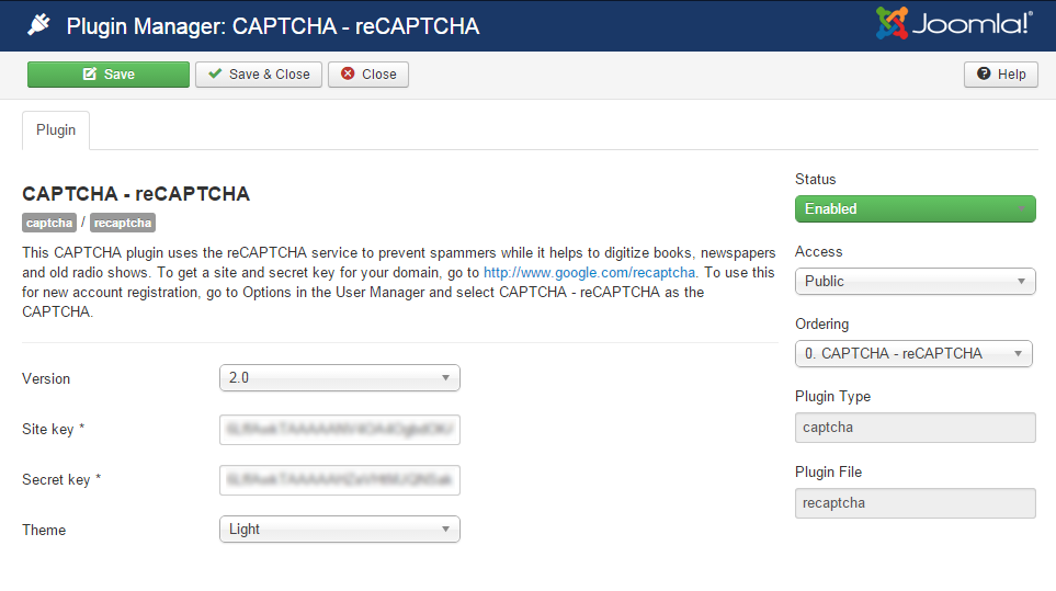 advpoll captcha plugin settings
