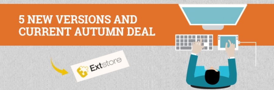 [Review] The releases of 5 new versions in last week and current Autumn deal on ExtStore.