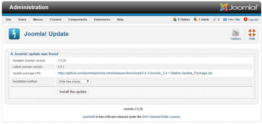 [Tutorial] Upgrade Website from Joomla 2.5 to Joomla 3.x
