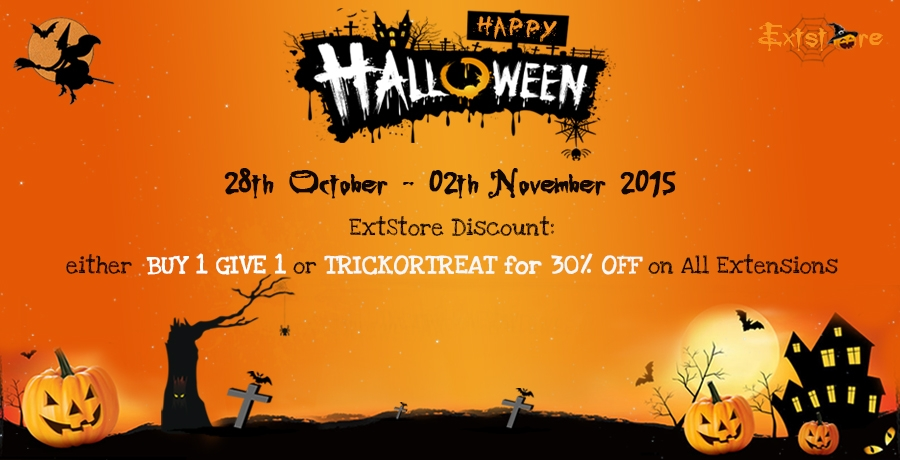 Halloween Treat: either Buy 1 Give 1 or 30% OFF on all ExtStore extensions