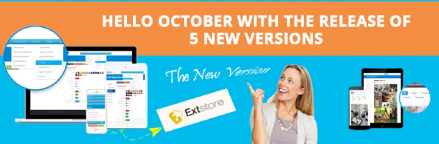 [Announcement] Hello October with the release of 5 new versions on ExtStore.