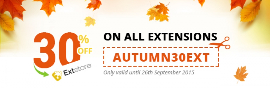 AUTUMN Deal: 30% OFF on All ExtStore Extensions.